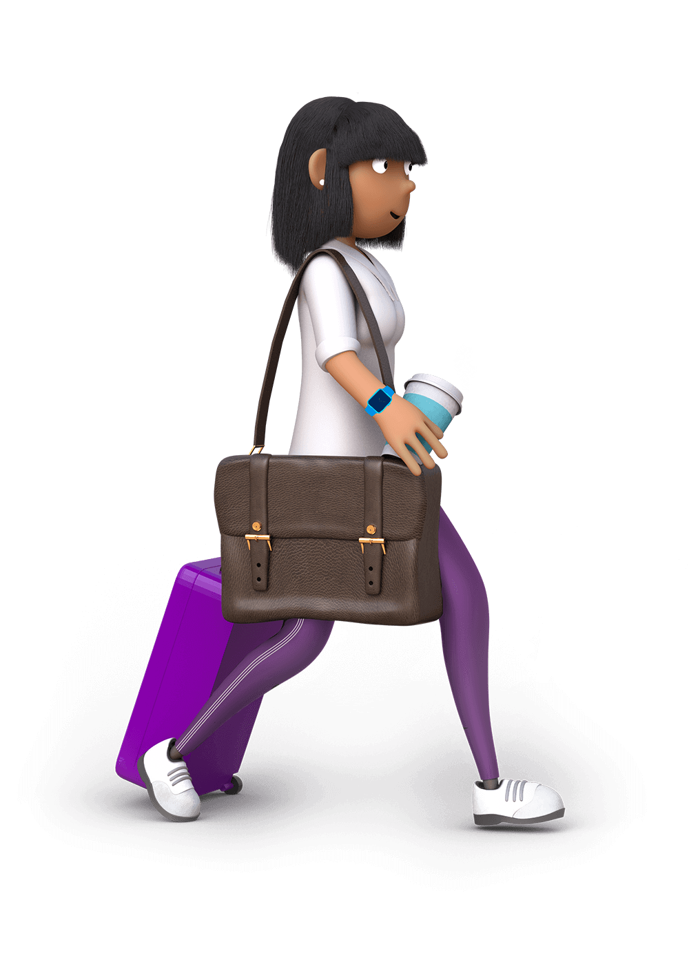 Dayinsure woman going on a trip