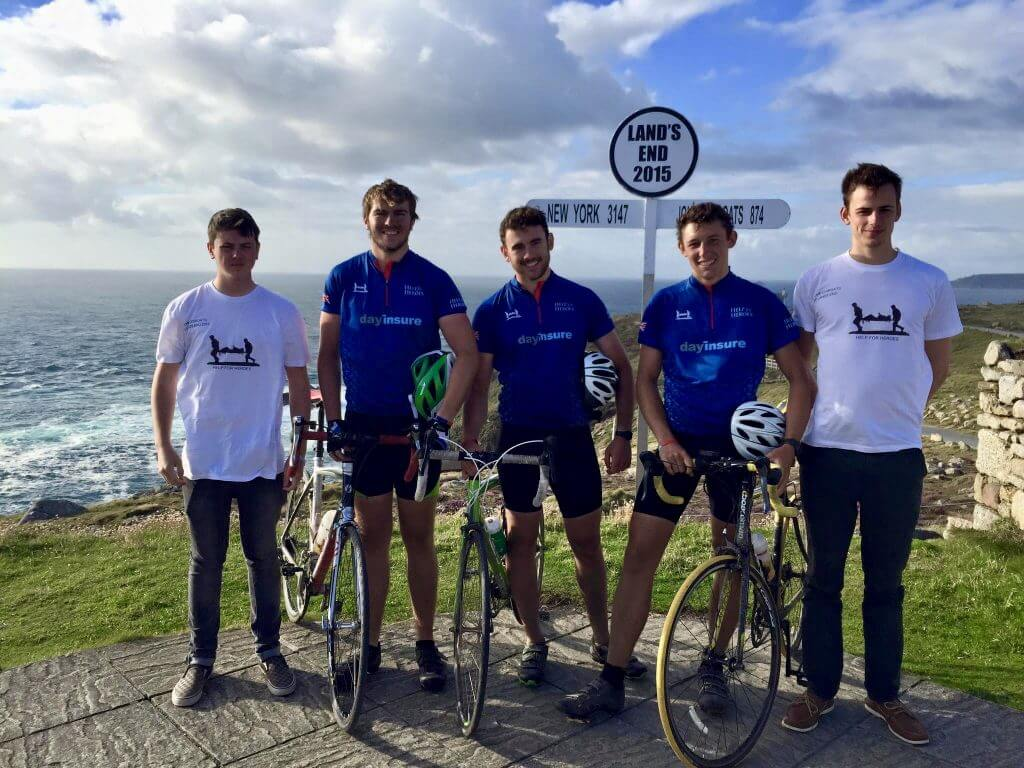 Cycling for help for heroes