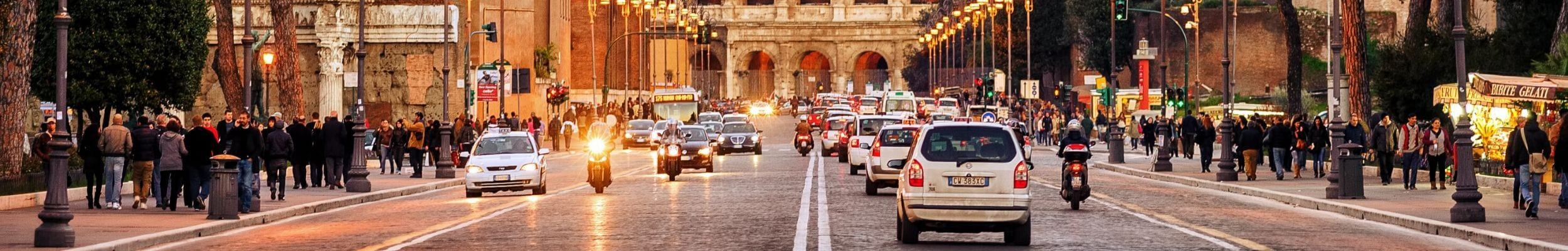 Cars in Rome with temporary European car insurance