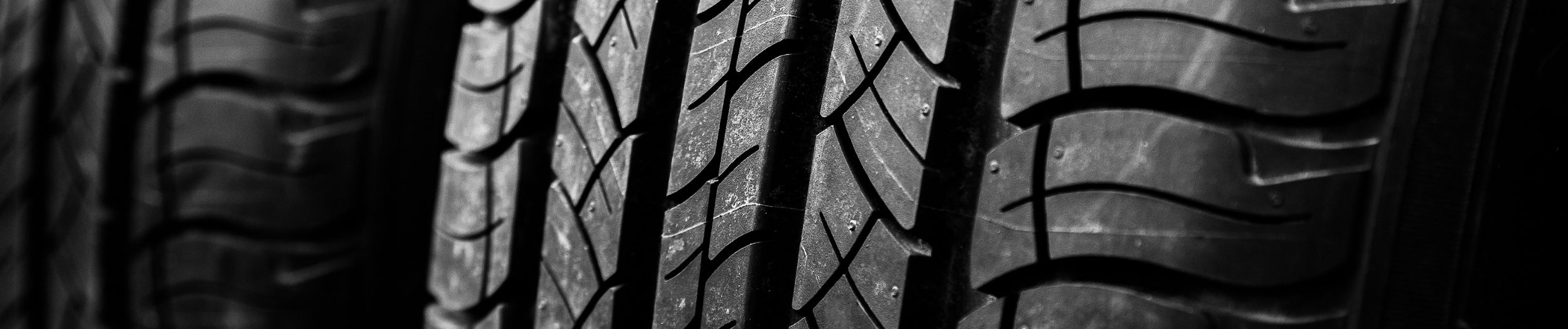 Close up of car tyres