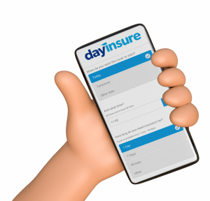Dayinsure cheap temporary car insurance on mobile