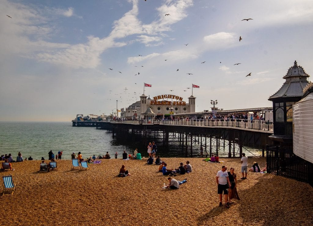 Brighton Palace Pier from the shore