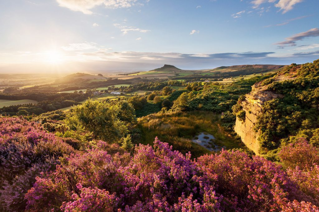 Sunset view from Cockshaw Hill in the North York Moors